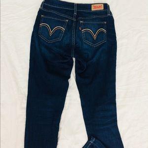 Levi's Dark Wash Leggings Jeans
